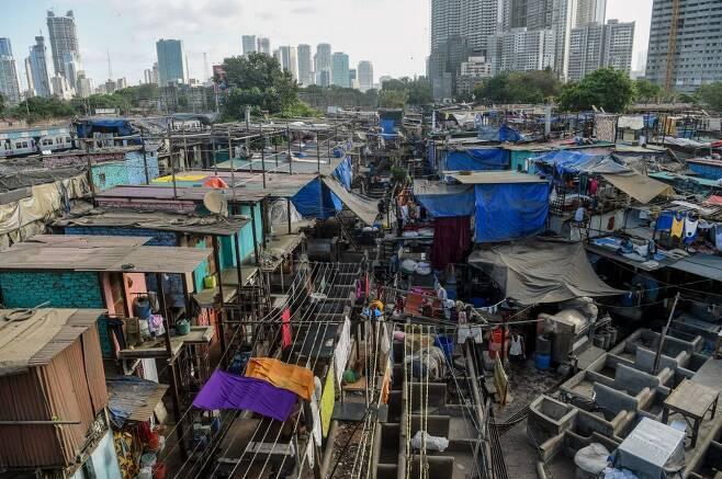 인도 뭄바이의 빈민가 모습. /AFPBBNews=뉴스1
