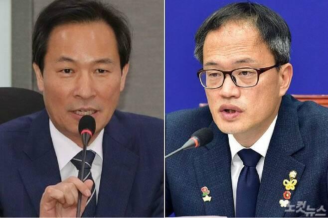 더불어민주당 우상호·박주민 의원. (사진=연합뉴스/자료사진)