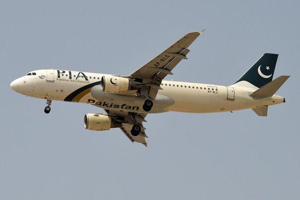 지난 5월 사고 여객기와 같은 기종인 파키스탄국제항공의 에어버스 A320 여객기. 위키피디아