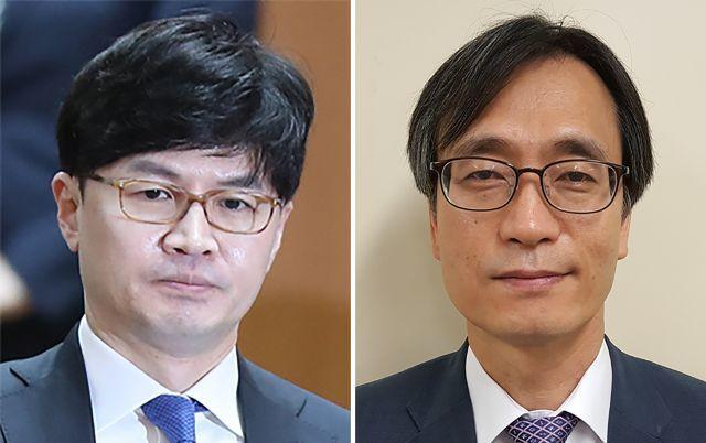 한동훈(왼쪽) 검사장과 '검언유착' 수사팀장 정진웅 부장검사. 사진=연합뉴스