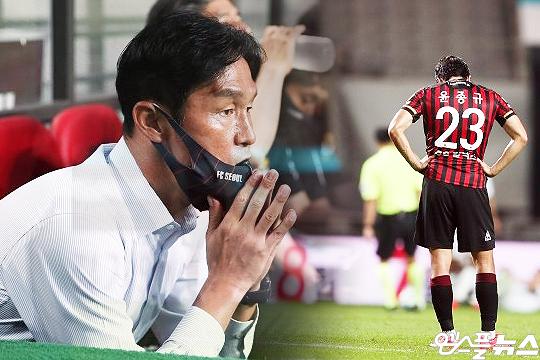 FC 서울 최용수 감독이 7월 30일 지휘봉을 내려놨다(사진=엠스플뉴스, 한국프로축구연맹)