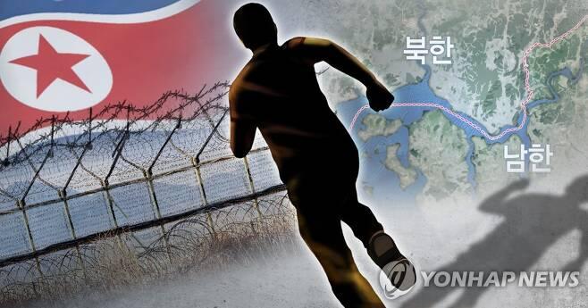 한강 하구 통한 월북 (PG) [장현경 제작] 일러스트
