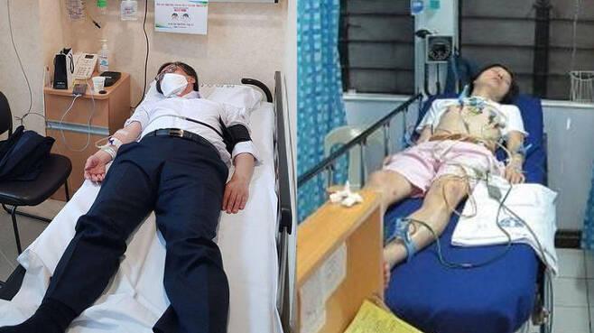 정진웅 부장검사와 신정환의 병상 사진