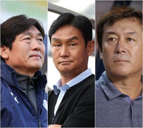 이임생 감독, 최용수 감독. 임완섭 감독(왼쪽부터). 제공 | 프로축구연맹