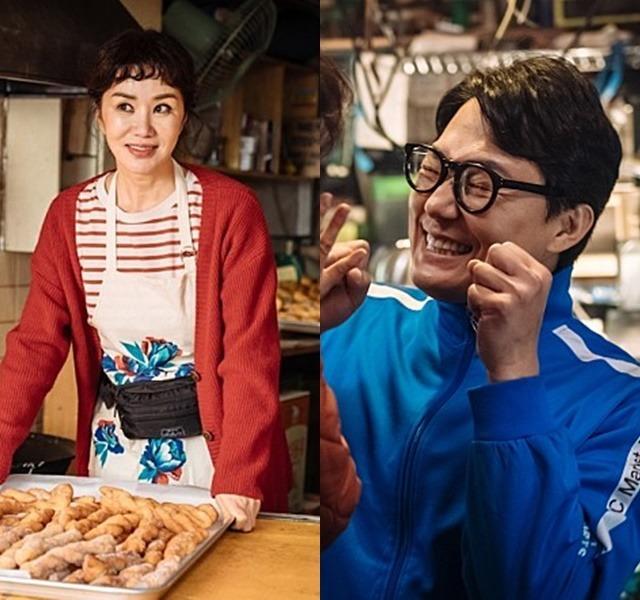 엄정화(왼쪽) 박성웅은 '오케이 마담'을 통해 부부로 호흡을 맞춘다. /메가박스중앙플러스엠 제공