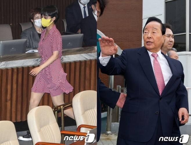류호정 정의당 의원, 고(故) 김영삼 전 대통령./사진=뉴스1