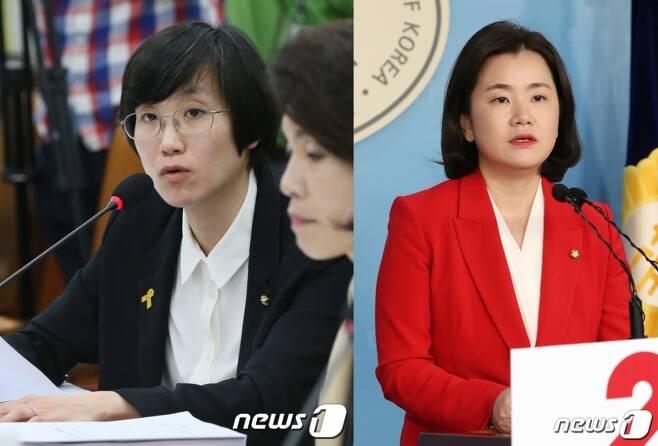 장하나 전 더불어민주당 의원, 신보라 전 자유한국당 의원./사진=뉴스1