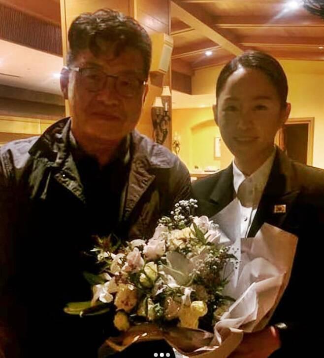 ▲ 양우석 감독(왼쪽)과 이수련. 출처ㅣ이수련 인스타그램