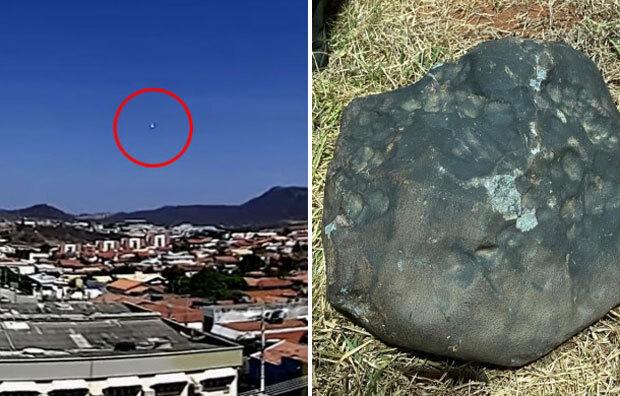 브라질 시골 마을에 '운석 로또'가 쏟아졌다. 이 중 하나는 무게가 40㎏으로 지금까지 브라질에서 발견된 운석 중 최대 크기를 자랑한다.
