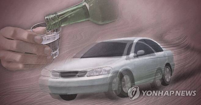 음주운전 주행 교통사고(PG) [연합뉴스 자료사진]