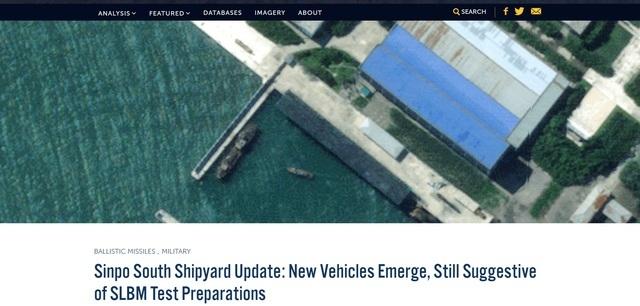 [서울=뉴시스]미국 싱크탱크 전략국제문제연구소(CSIC) 선임연구원인 조지프 버뮤데즈는 9일(현지시간) CSIC 산하 북한 전문 사이트 '분단을 넘어(Beyond Parallel)'에 공개된 보고서에서 신포조선소 위성사진을 토대로 북한이 잠수함발사탄도미사일(SLBM) '북극성-3호' 시험 발사를 준비하고 있다는 정황이 또다시 포착됐다고 밝혔다. 사진은 분단을 넘어에 게재된 버뮤데즈의 보고서. 2020.09.10