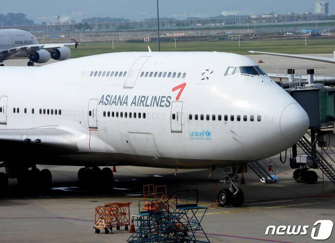인천국제공항의 아시아나 항공기 모습. 2020.9.11/뉴스1 © News1 정진욱 기자