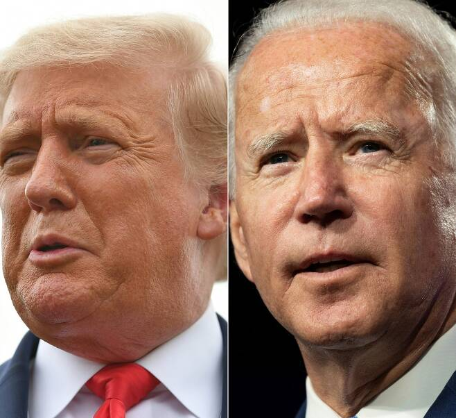 도널드 트럼프 미국 대통령(왼쪽)과 조 바이든 민주당 대선 후보. /AFPBBNews=뉴스1