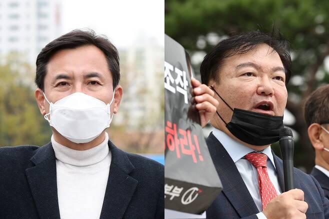 - 국민의힘 김진태, 민경욱 전 의원. 연합뉴스