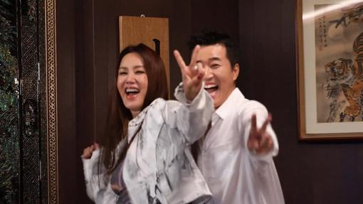 MBC 예능 '놀면 뭐하니' 가수 엄정화(왼쪽)와 김종민. 사진제공|MBC