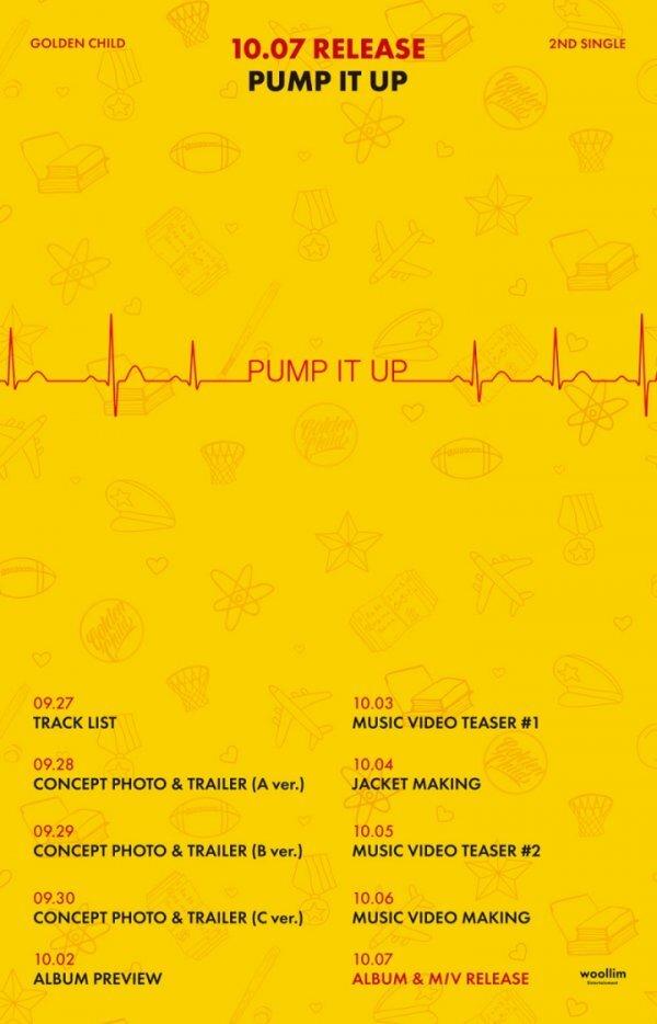 7일(수), 골든차일드 싱글 앨범 2집 'Pump It Up' 발매 | 인스티즈