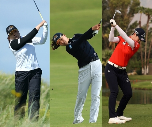 2020년 미국여자프로골프(LPGA) 투어 숍라이트 LPGA 클래식에 출전하는 박인비, 전인지, 박성현 프로. 사진제공=Getty Images