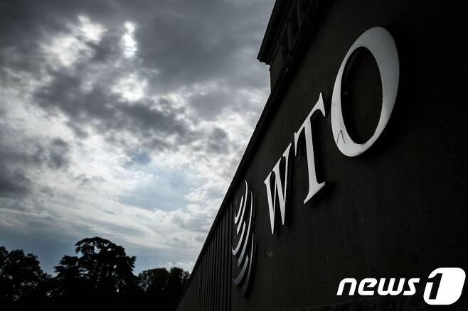 스위스 제네바의 세계무역기구(WTO) 본부 건물 모습. © AFP=뉴스1