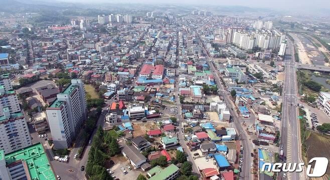 증평읍 전경.© 뉴스1
