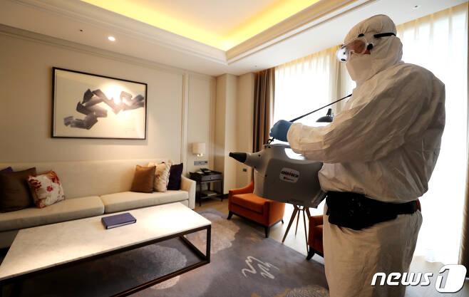 호텔 방역 현장 © News1 DB