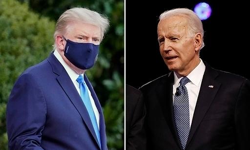 도널드 트럼프 미국 대통령(왼쪽), 조 바이든 전 부통령. AP연합뉴스