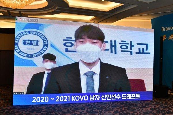 2020-2021 KOVO 남자 신인선수 드래프트 1순위 김선호. 사진제공 | KOVO