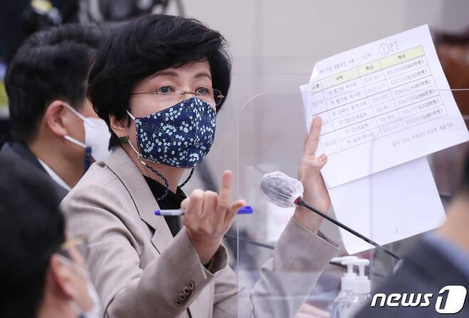 김영주 더불어민주당 의원 2020.10.7/뉴스1 © News1 박세연 기자