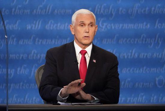 마이크 펜스 부통령이 토론회에서 발언하고 있다. [이미지출처=AP연합뉴스]