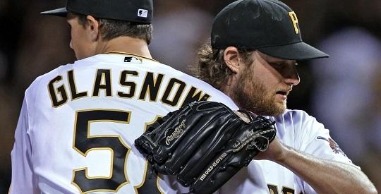 피츠버그 시절 글래스나우(왼쪽)와 콜(사진=MLB.com)