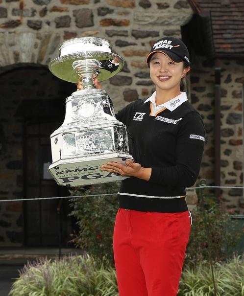 2020년 미국여자프로골프(LPGA) 투어 메이저 골프대회 KPMG 위민스 PGA챔피언십 우승을 차지한 김세영 프로. 사진제공=Darren Carroll/PGA of America