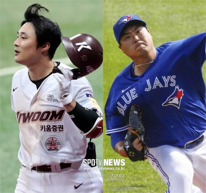 ▲ 김하성(왼쪽)-류현진