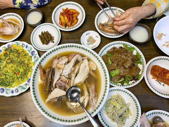 채지형씨 가족이 체험한 식사. [사진 채지형]