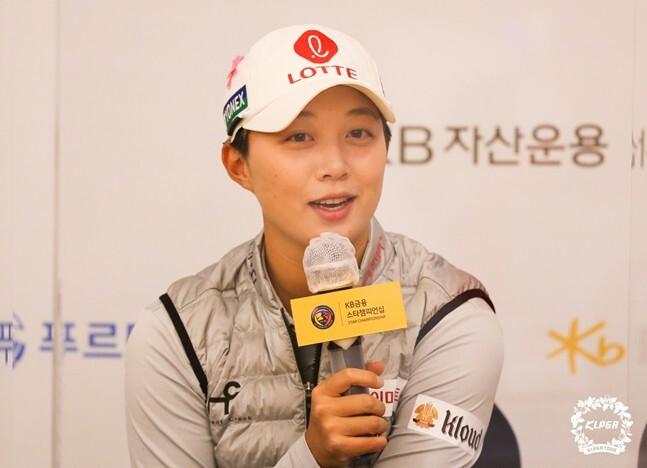 김효주가 KLPGA KB금융 스타챔피언십 1라운드에서 6타를 줄이며 공동 선두를 기록했다. 사진=KLPGA 제공