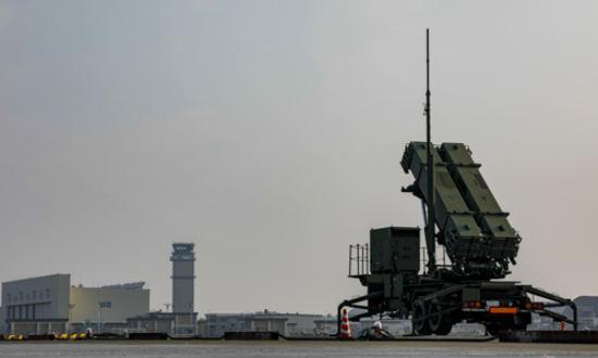 주일미군 이와쿠니 기지에 배치된 일본 항공자위대 소속 패트리엇 미사일 포대. 미 해병대 제공