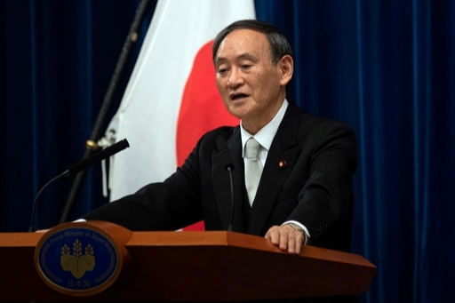 스가 요시히데 일본 총리. 연합뉴스