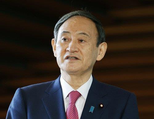 스가 일본 총리. 연합뉴스