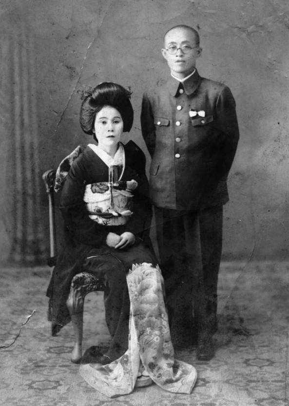 1938년 10월 15일 윤치호·윤학자 부부가 결혼식을 올리고 찍은 기념사진. [윤치호·윤학자기념관 제공. 재판매 및 DB 금지]