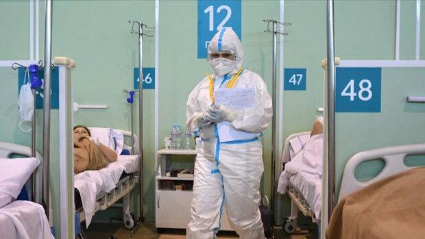러시아 코로나19 치료 병원./리아노보스티=연합뉴스 자료사진