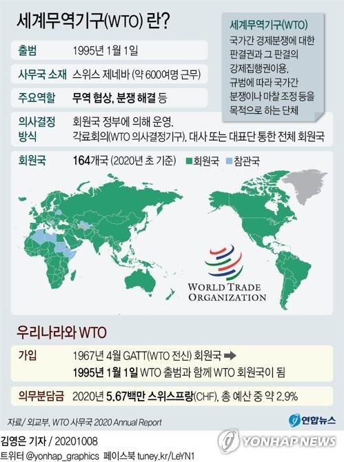 [그래픽] 세계무역기구(WTO)란? (서울=연합뉴스) 김영은 기자 = 0eun@yna.co.kr