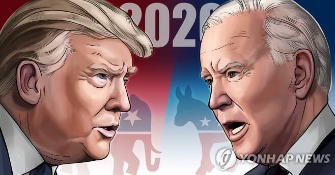 미국 대선 트럼프 vs 바이든 (PG) [김민아 제작] 일러스트