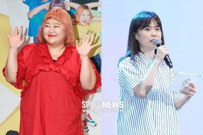 ▲ 홍윤화(왼쪽), 고 박지선. ⓒ한희재 기자, 곽혜미 기자
