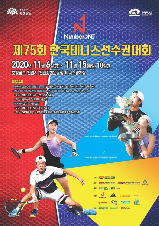 한국테니스선수권 대회 포스터. [대한테니스협회 제공. 재판매 및 DB 금지]
