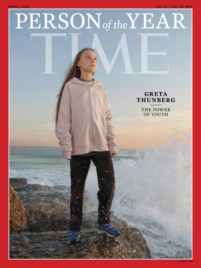 미 시사주간지 타임의 '올해의 인물'로 선정된 그레타 툰베리. [AP]