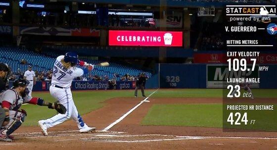 2015년부터 메이저리그에서 제공 중인 스탯캐스트. 사진=MLB.com 캡처