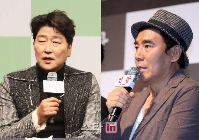 (왼쪽부터)배우 송강호, 김지운 감독. (사진=이데일리DB)