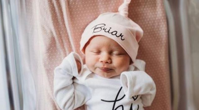 2일 태어난 브라이아 줄리엣 록우드. 몸무게 3.2kg으로 건강하게 태어났다. 브라이안나 록우드 SNS 화면 캡처