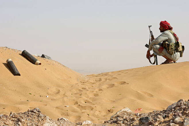 예멘 정부군 병사의 모습. [로이터]