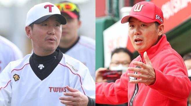 ▲ 새롭게 지휘봉을 잡은 류지현 LG 감독(왼쪽)과 김원형 SK 감독 ⓒLG트윈스 ⓒSK와이번스