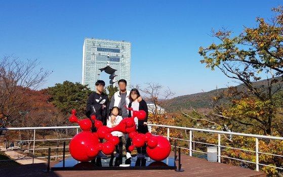 지난해 가을 경주엑스포공원에 놀러 간 이씨 가족 사진. 이씨 유가족 제공