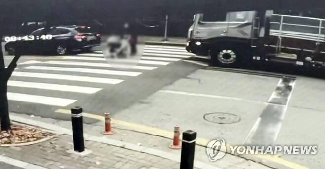 광주 어린이보호구역서 가족 참변…1명 사망·2명 중상 [독자 제공. 재판매 및 DB 금지]